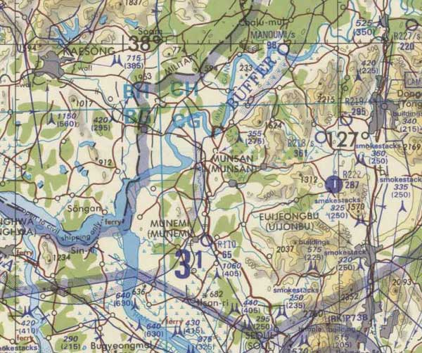 US Army Corps Of Engineers Aeronautical Maps - Korea - Japan - China